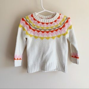 Cat & Jack Fair Isle Tassel Tie Infant Sweater
